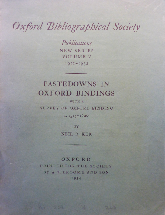 Ker Pastedowns Title Page