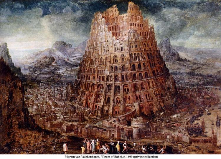 Marten van Valckenborch Tower of Babel